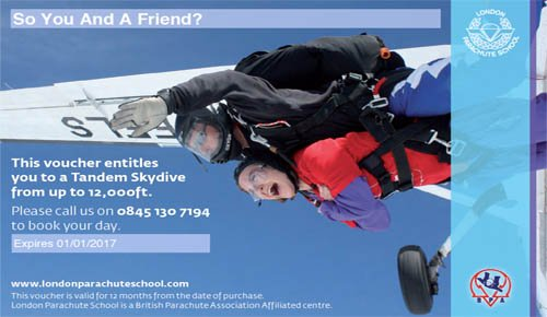 Skydiving Gift Experience Voucher